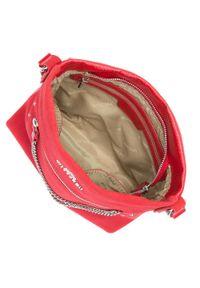 Wittchen - Damska listonoszka skórzana z łańcuchami. Kolor: czerwony. Wzór: aplikacja. Materiał: skórzane. Rozmiar: małe. Styl: klasyczny, elegancki
