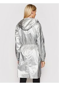 Karl Lagerfeld - KARL LAGERFELD Parka Metallic 211W1503 Srebrny Regular Fit. Typ kołnierza: dekolt w karo. Kolor: srebrny #6