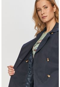 Niebieski płaszcz Pepe Jeans na co dzień, bez kaptura