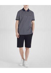 PAUL & SHARK - Bawełniana koszulka polo w paski. Typ kołnierza: polo. Kolor: biały. Materiał: bawełna. Wzór: paski. Sezon: wiosna, lato. Styl: klasyczny