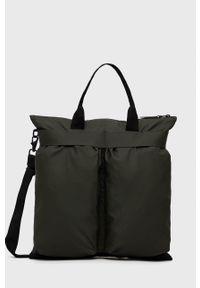 Rains - Torebka 1388 Helmet Bag. Kolor: zielony