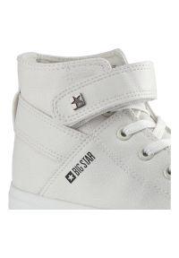 Big-Star - Sneakersy BIG STAR V274541 Biały. Okazja: na co dzień, na spacer. Wysokość cholewki: za kostkę. Zapięcie: rzepy. Kolor: biały. Materiał: jeans, skóra ekologiczna, materiał, guma. Szerokość cholewki: normalna. Styl: casual