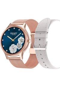 Smartwatch Pacific 18-2 Różowy (PACIFIC 18-2 rosegold+white). Rodzaj zegarka: smartwatch. Kolor: różowy
