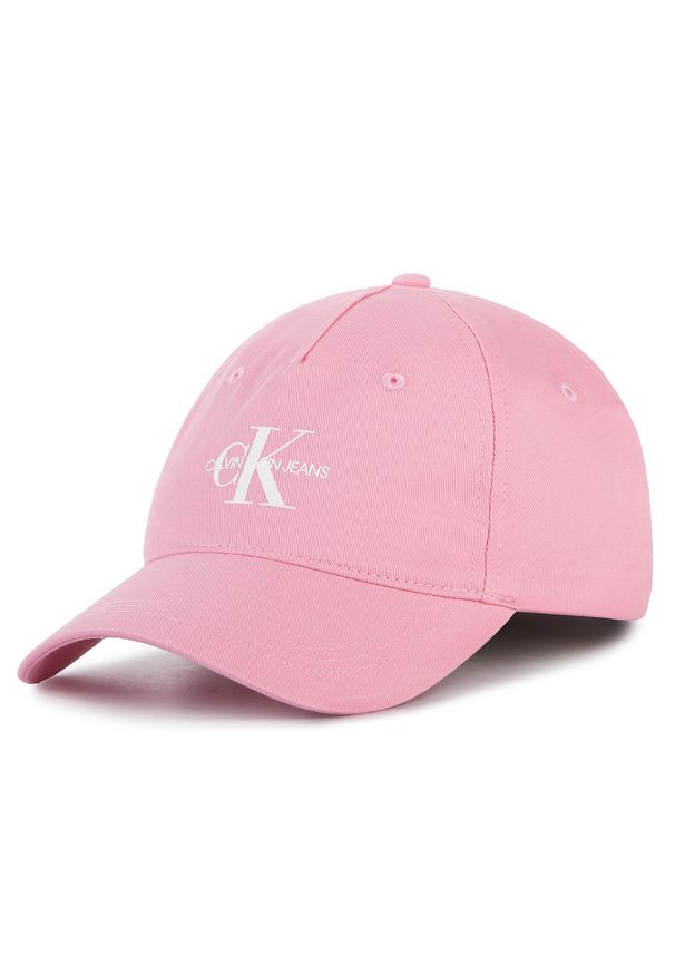Różowa czapka Calvin Klein Jeans