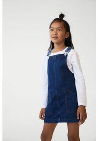 Morska sukienka Mango Kids casualowa, mini