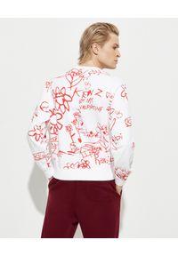 """Kenzo - KENZO - Biała bluza """"Be my Valentine"""". Kolor: czerwony. Materiał: bawełna. Długość rękawa: długi rękaw. Długość: długie. Wzór: nadruk"""