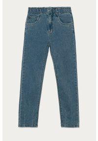 Niebieskie jeansy Name it gładkie, casualowe, na co dzień