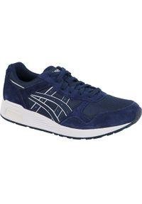 Niebieskie sneakersy Asics lifestyle z cholewką