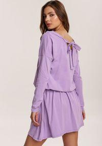 Renee - Lawendowa Sukienka Eshirthine. Kolor: fioletowy