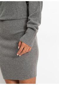 Szara sukienka bonprix z golfem, melanż