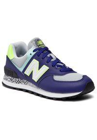 Fioletowe buty sportowe New Balance 574, z cholewką, na co dzień