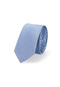 Lancerto - Krawat Niebieski w Kropki. Okazja: do pracy, na co dzień. Kolor: niebieski. Materiał: tkanina, mikrofibra. Wzór: kropki. Styl: wizytowy, klasyczny, casual