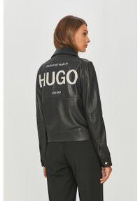 Czarna kurtka Hugo bez kaptura, na co dzień