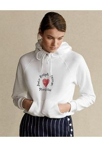 Ralph Lauren - RALPH LAUREN - Biała bluza z kapturem. Okazja: na co dzień. Typ kołnierza: kaptur. Kolor: biały. Materiał: jeans, bawełna. Wzór: napisy, nadruk. Sezon: wiosna. Styl: casual, klasyczny #4