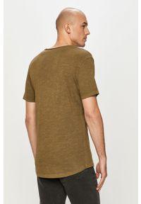 Jack & Jones - T-shirt. Okazja: na co dzień. Kolor: oliwkowy. Materiał: dzianina, bawełna. Wzór: gładki. Styl: casual #4