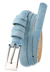 4U CAVALDI - Pasek damski błękitny Cavaldi BK-3-1.4 BLUE. Kolor: niebieski. Materiał: skóra