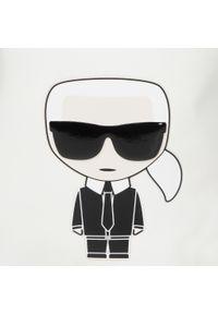Biała torebka worek Karl Lagerfeld zdobiona, z aplikacjami