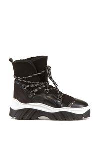 Buty zimowe Inuikii sportowe, z paskami, w paski