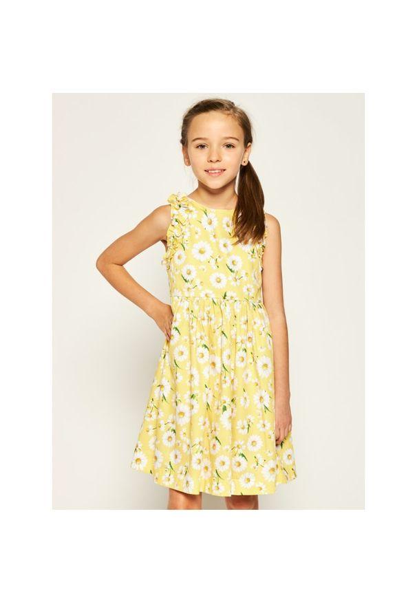 Żółta sukienka Mayoral prosta, na co dzień, casualowa