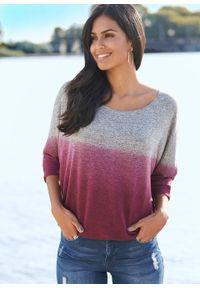 Shirt oversize w cieniowanym kolorze bonprix szaro-jeżynowy melanż. Kolor: szary. Wzór: melanż #7