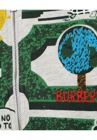 BURBERRY CHILDREN - Bluza rozpinana z kapturem 0-2 lata. Typ kołnierza: kaptur. Kolor: szary. Materiał: materiał. Wzór: nadruk, aplikacja. Sezon: lato. Styl: klasyczny