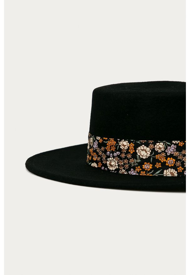 Czarny kapelusz Scotch & Soda z aplikacjami