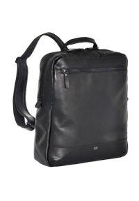 DAAG - Skórzany plecak na laptopa unisex Daag Albedo 3 czarny. Kolor: czarny. Materiał: skóra