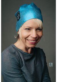 Niebieska czapka Hultaj Polski z nadrukiem, vintage