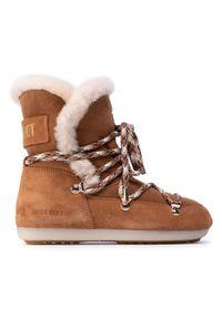 Brązowe śniegowce Moon Boot