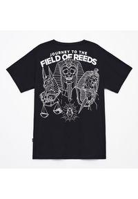 Cropp - Koszulka z nadrukiem na plecach - Czarny. Kolor: czarny. Wzór: nadruk
