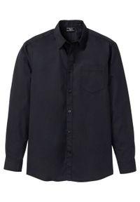 Koszula z długim rękawem bonprix czarny. Kolor: czarny. Długość rękawa: długi rękaw. Długość: długie
