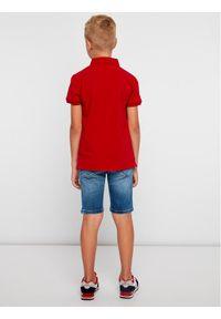 Czerwony t-shirt polo TOMMY HILFIGER polo