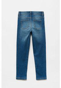 Niebieskie jeansy OVS z haftami