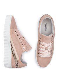 Różowe buty sportowe Togoshi #8