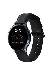 Czarny zegarek SAMSUNG elegancki, smartwatch