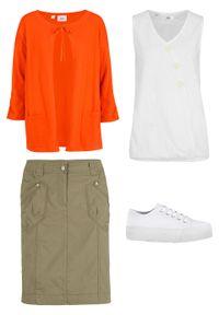 Pomarańczowy sweter bonprix