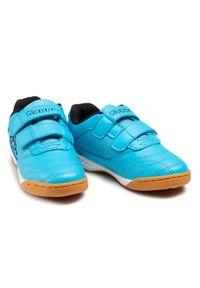 Kappa - Sneakersy KAPPA - Kickoff K 260509K Azur/Black 6211. Zapięcie: rzepy. Kolor: niebieski. Materiał: skóra ekologiczna, materiał. Szerokość cholewki: normalna #4