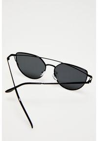 Czarne okulary przeciwsłoneczne MOODO w jednolite wzory