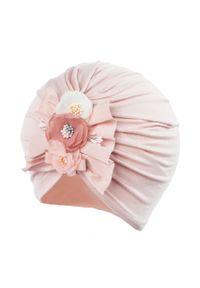 Różowa czapka Jamiks gładkie