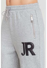 Czarne spodnie dresowe John Richmond w kolorowe wzory