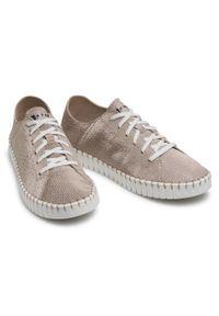 Nessi - Sneakersy NESSI - 21700 Złoty Pm. Okazja: na co dzień. Kolor: złoty. Materiał: skóra, zamsz. Szerokość cholewki: normalna. Styl: casual