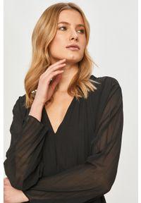 Samsoe & Samsoe - Samsoe Samsoe - Sukienka. Kolor: czarny. Materiał: tkanina. Długość rękawa: długi rękaw. Wzór: gładki. Typ sukienki: plisowane #4