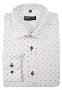Elegancka koszula Grzegorz Moda Męska z długim rękawem, na spotkanie biznesowe, długa