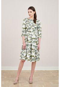 Marie Zélie - Sukienka Chione Ceropegia. Materiał: bawełna, skóra, materiał, elastan