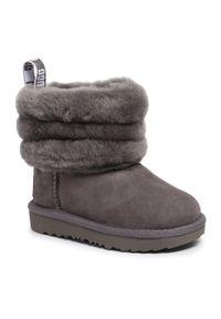Szare buty zimowe Ugg z cholewką, na spacer