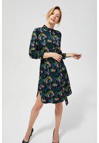Sukienka MOODO szmizjerki, w kwiaty