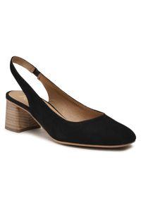 Czarne sandały casualowe, na co dzień