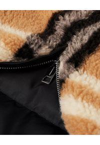 Czarna kurtka Burberry z aplikacjami, długa, z długim rękawem, na jesień