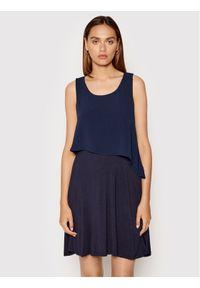 DKNY Sukienka koktajlowa DD1EL806 Granatowy Slim Fit. Kolor: niebieski. Styl: wizytowy