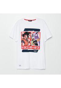 Cropp - Koszulka Dragon Ball - Biały. Kolor: biały